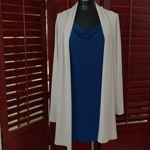 Susan Graver Blue Sleeveless Top